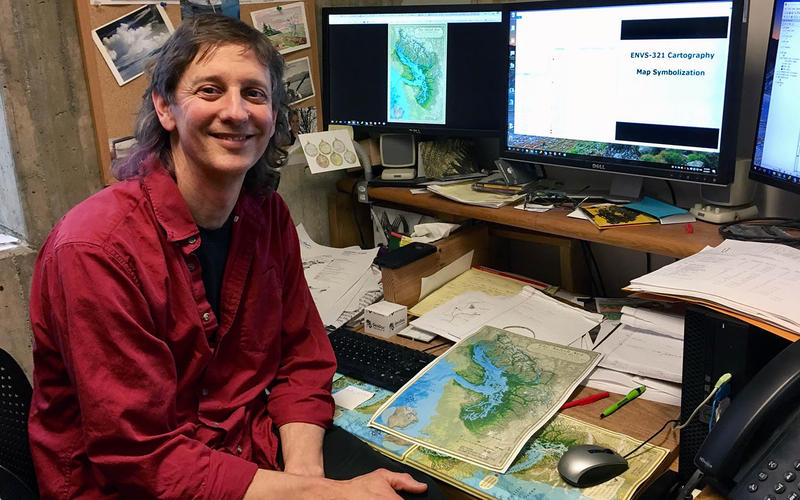 Cartographer Stefan Freelan created the first map of the Salish Sea.