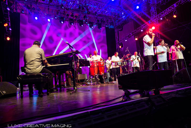 "The Spanish Harlem Orchestra on stage at Lincoln Center's ""Out of Doors"" concert series, 2017"