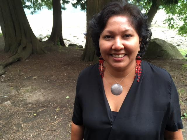Charlene Aleck, elected councillor of the Tsleil-Waututh Nation, at Cates Park on Burrard Inlet.
