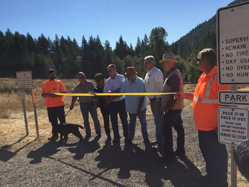 Officials with Thurston County, Washington State, and the Squaxin Island Tribe officially open Deschutes Falls Park to the public on Sept. 1, 2017