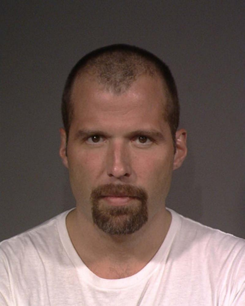 Wil Miller's booking photo from his arrest on drug charges.