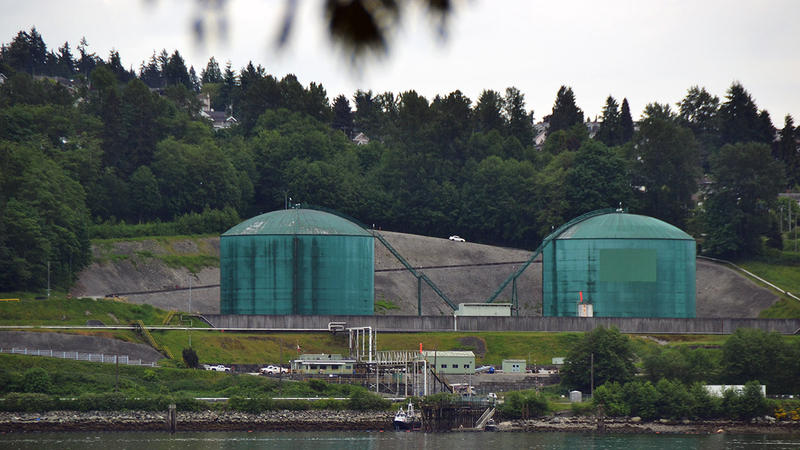 The Westridge Terminal in North Vancouver, B.C., which is fed by Kinder Morgan's Trans Mountain Pipeline.
