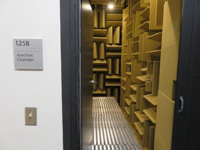 The anechoic chamber at Central Washington University in Ellensburg