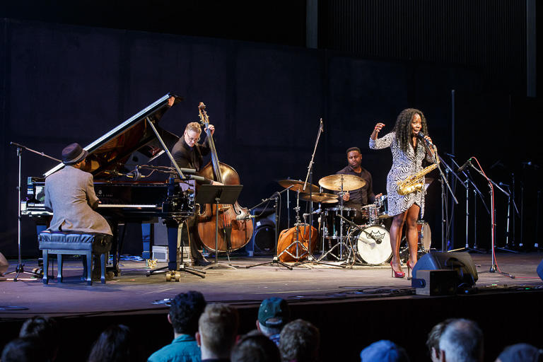 Sullivan Fortner, Doug Weiss, Kendrick Scott, Tia Fuller at Jazz Port Townsend 2017