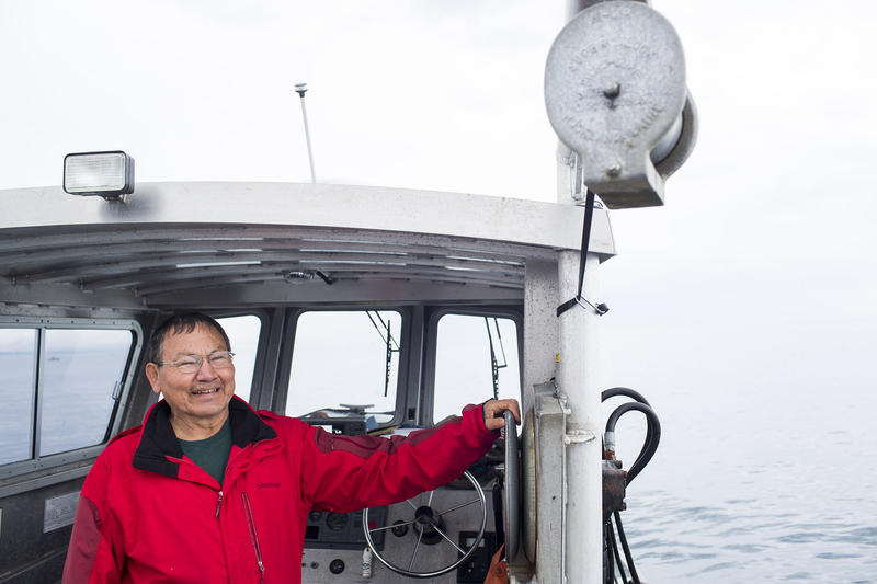Robert Elofson, a member of the Lower Elwha Klallam Tribe, worked for years as its Director of River Restoration. He has now returned to commercial fishing, with a boat in Port Angeles.