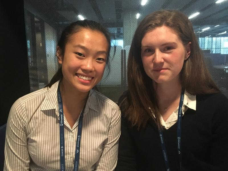 Angela Lin and Allison Bunker are the high school seniors organizing events on the youth track for Seattle Startup Week.