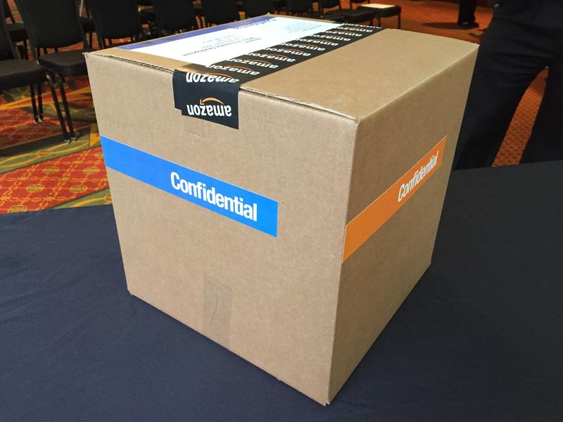 "Tacoma and Pierce County officials kept their Amazon bid in an Amazon shipping box marked ""confidential"""