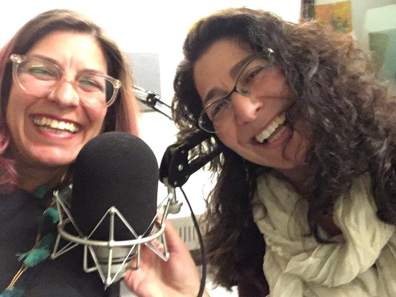 Naomi and Michelle Goodman at the KNKX studios in Belltown, Seattle.