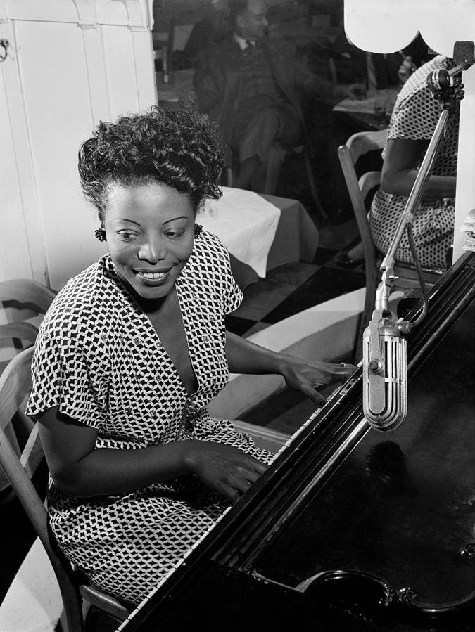 Mary Lou Williams at the piano, 1946