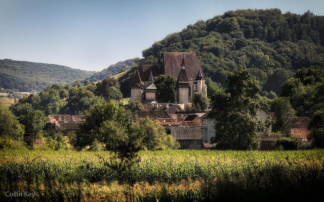 The fortified church of Biertan, in Transylvania. Though now officially in Romania, the region has about a thousand years of Hungarian history, too.