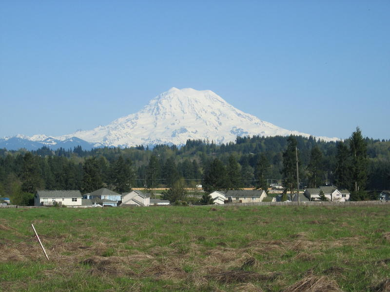 The tiny city of Orting lies in the foothills of Mount Rainier
