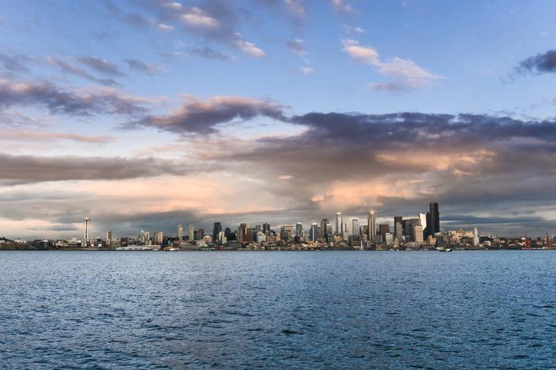 Seattle's skyline in Mid-November, 2017.