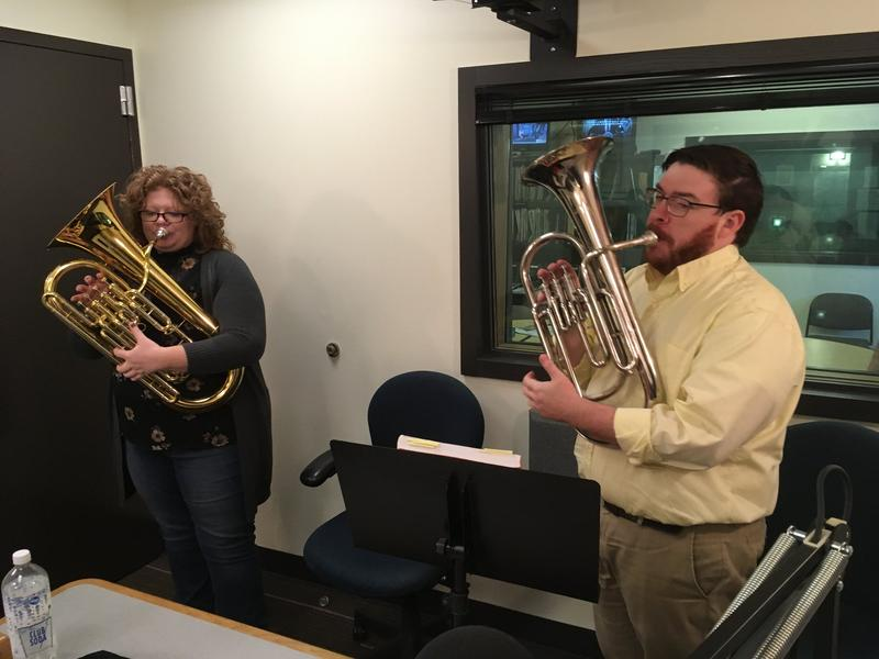 KNKX newsies Ariel Van Cleave and Ed Ronco have no problem with tooting their own horn.