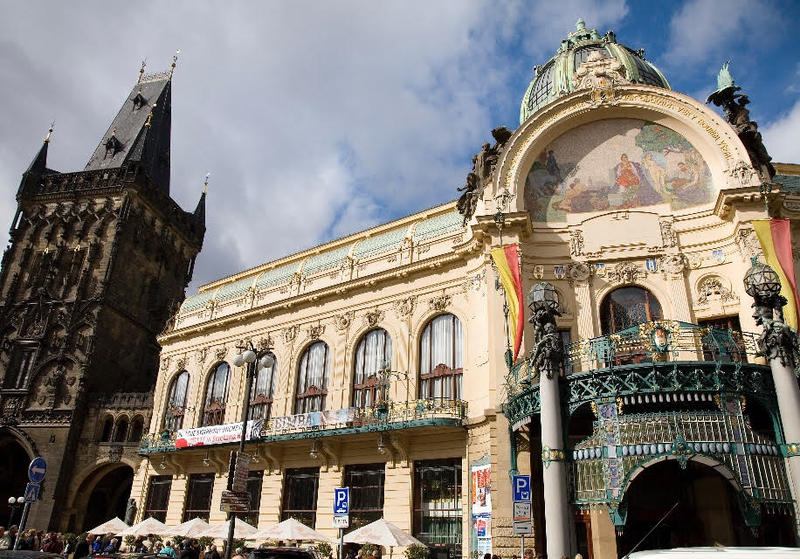 The Municipal House in Prague was built in the early 20th century and now boasts a stunning concert venue, among other things.