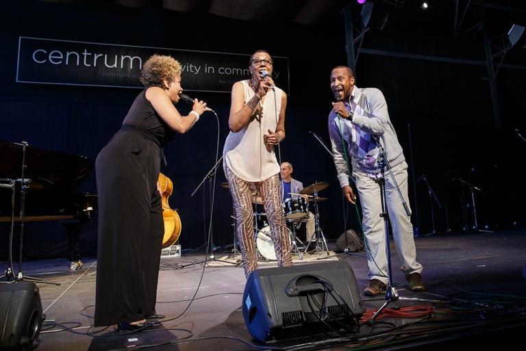 Niki Haris, Dee Daniels, and Cedric Dent at Jazz Port Townsend 2017