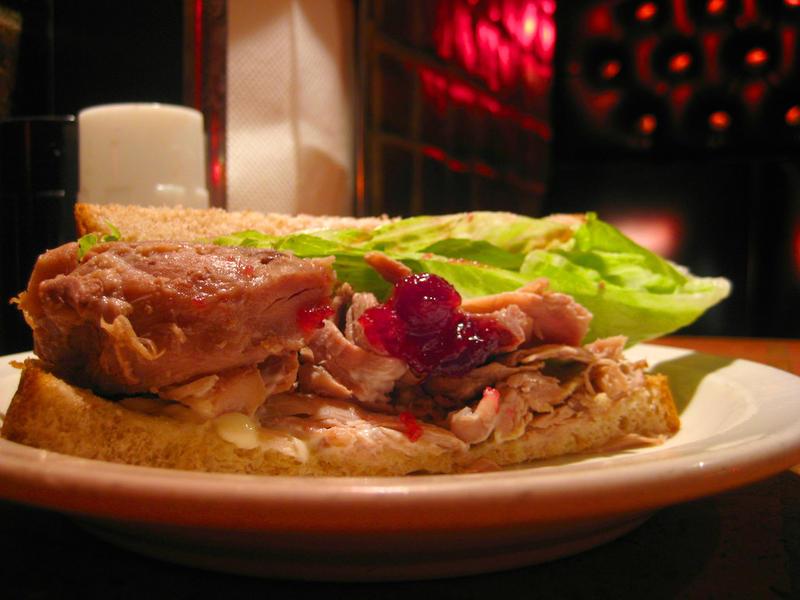 Turkey sandhwich cranberry sauce from Bakeman's Restaurant in Seattle.