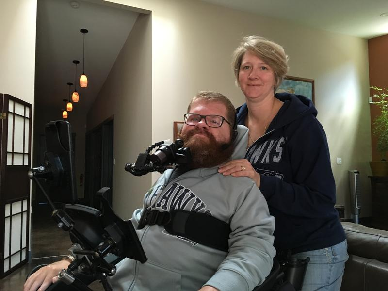 Todd Stabelfeldt with his wife Karen, at their Port Orchard home.
