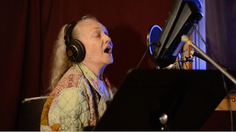 Nancy King in studio
