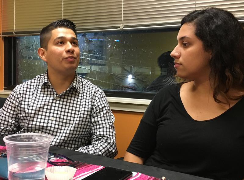 Paul Quinonez and Alejandra Perez meet in Seattle with other undocumented youth before heading to D.C. to lobby Congress.