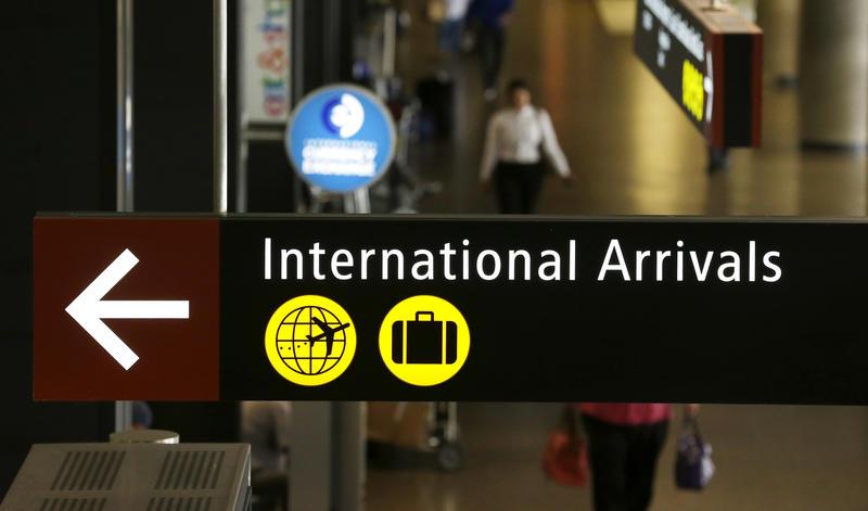 International arrival gate at Sea-Tac Airport International Airport