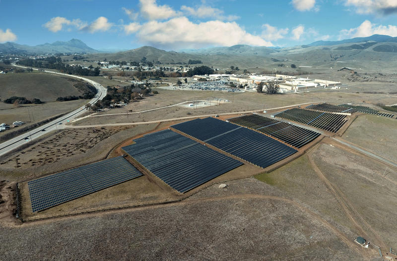 Cal Poly San Luis Obispo now has a 4.5 megawatt solar farm that is expected to generate about 25 percent of the university's total electrical needs. The installation dedicated Jan. 24, 2018, is Cal Poly's first major energy project.