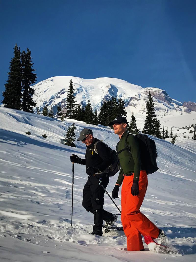 Snowshoeing at Mt Rainier
