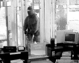 Surveillance video of the bank robbery