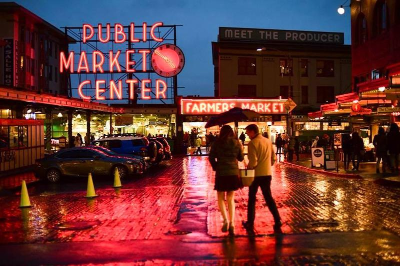 A recent evening at Seattle's Pike Place Market.