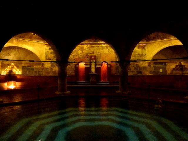 A peek inside one of the pools at the Rudas Baths in Budapest.