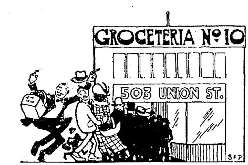 An advertisement for the Groceteria, from the Seattle Times.