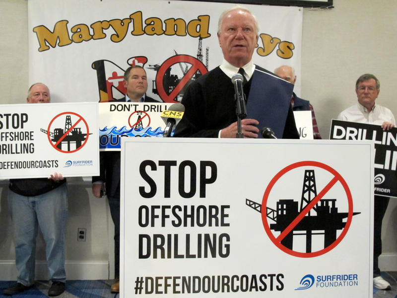 Ocean City Mayor Rick Meehan speaks out against allowing offshore drilling off Maryland's coast before an open house on the proposal that took place Tuesday, Jan. 16, 2018, in Annapolis, Md. A similar 'citizens forum' will take place in Tacoma on Monday.