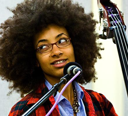 Bass player & composer Esperanza Spalding returns home for the Portland Jazz Festival, which begins this week.
