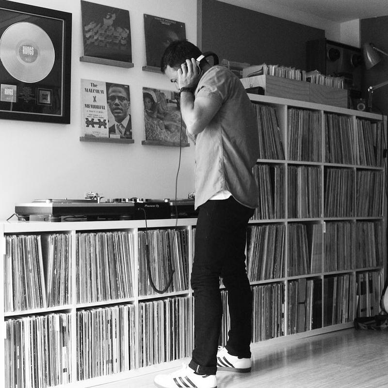 Lance Ferguson soaking up some vinyl inspiration for his Menagerie.