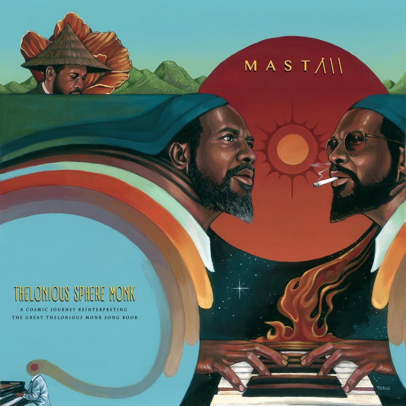 The gorgeous hand painted cover art to the new Monk tribute from multi-instrumentalist MAST.