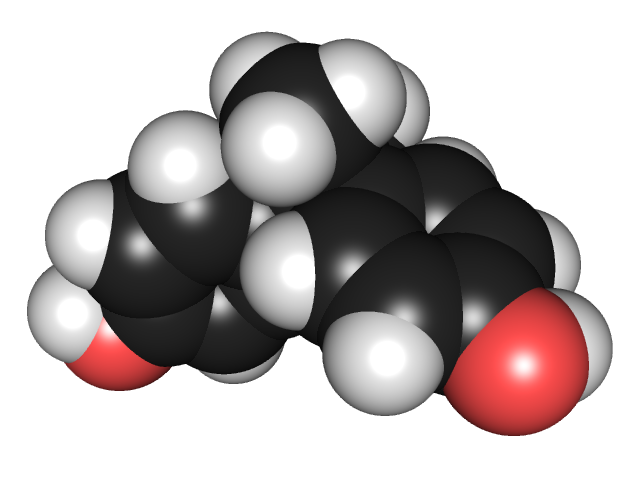 The chemical structure of BPA.
