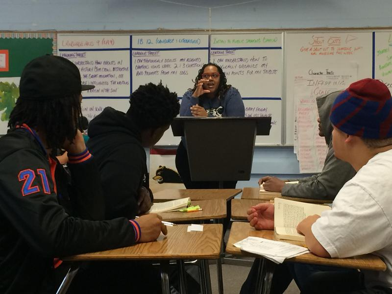 A class at Rainier Beach High School, which students say is overdue for renovations by the district