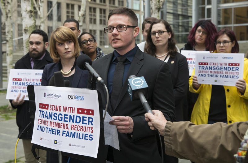 Conner Callahan is one of the plaintiffs in suit seeking to overturn ban on transgender people in the military.