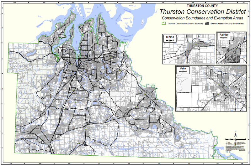 A map of the Thurston Conservation District's boundaries