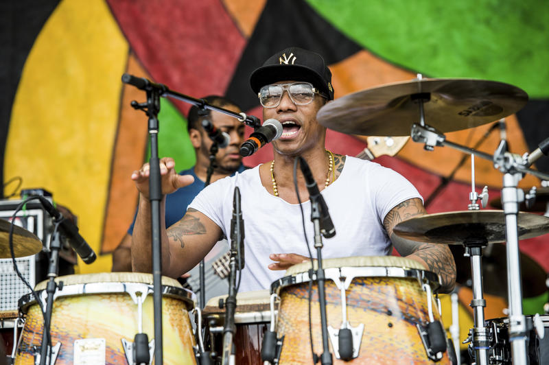 Pedrito Martinez of The Pedrito Martinez Group performs at the New Orleans Jazz and Heritage Festival on Friday, April 28, 2017, in New Orleans.