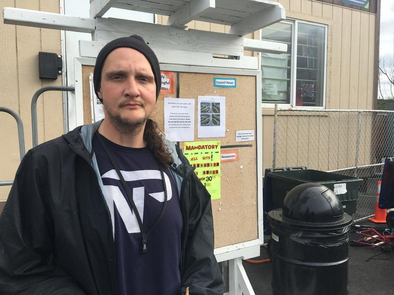 "Jayson Chambers is one of about 80 people who live at the City of Tacoma's first legal tent city, known as the ""stability site"""