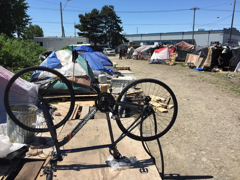 In Tacoma, many homeless people camped in the city's tideflats until officials disbanded the encampment in 2017