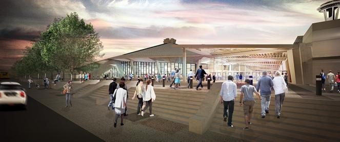 Proposed renovation of Key Arena at Seattle Center.