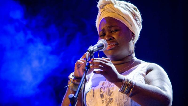 Cuban vocalist Daymé Arocena, Trianón theater, Havana, Cuba 2016