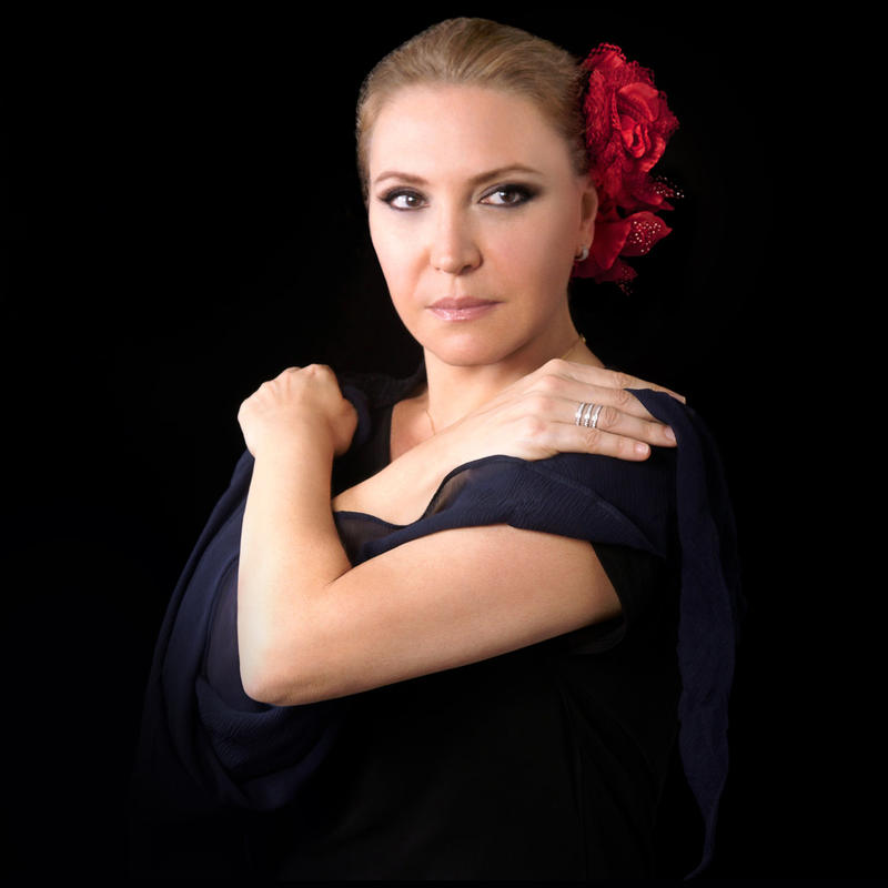 "Pianist Eliane Elias, cover photo from the album ""Music From Man of La Mancha"""