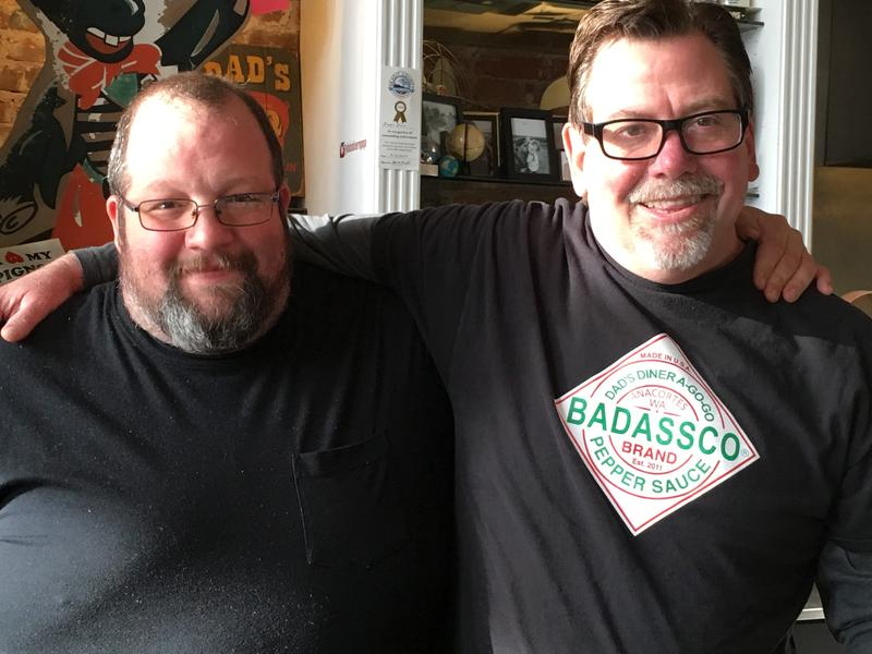 L-R: Dad's Diner A Go Go Co-owners Neil Stuchal and Fletcher  McLean