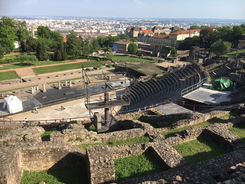 This ancient Roman theater above Lyon offers commanding views of the city.