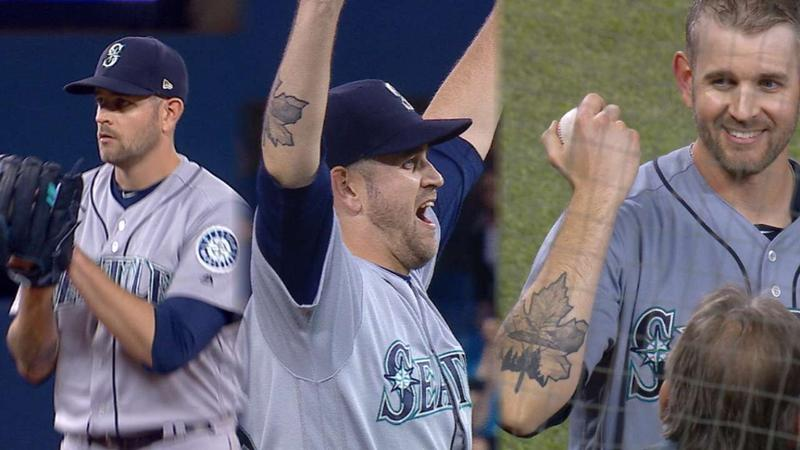 James Paxton after throwing a no-hitter in Toronto on Tues., May 8, 2018.