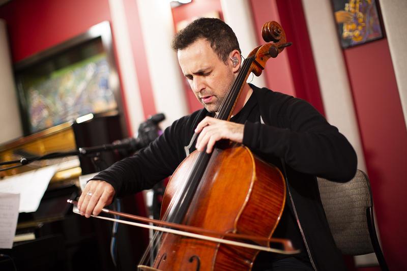Jacob Szekely in the KNKX Studios