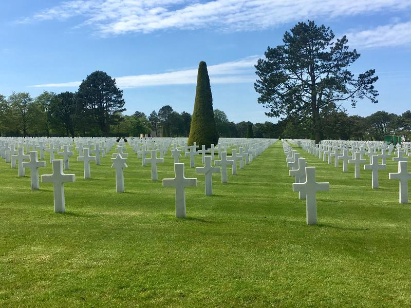The American Cemetery near Omaha Beach, in Normandy, France.
