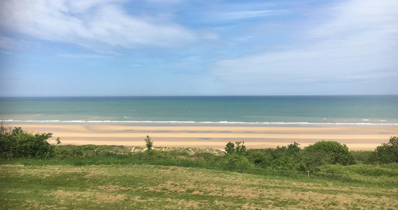Omaha Beach in France, where American troops came ashore in the D-Day invasion of June 6, 1944.